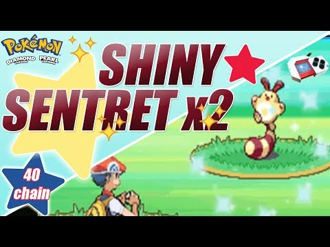 Shiny Sentret times 2 - Pokeradar shiny in Diamond - Live on Stream