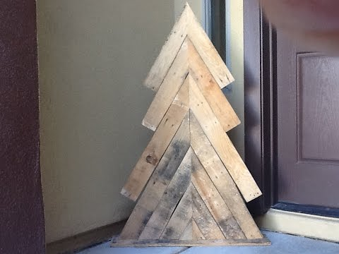 DIY Pallet Wood Christmas tree how to rustic xmas decor holiday decoration
