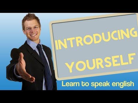 Introducing Yourself in English - Learn to speak english