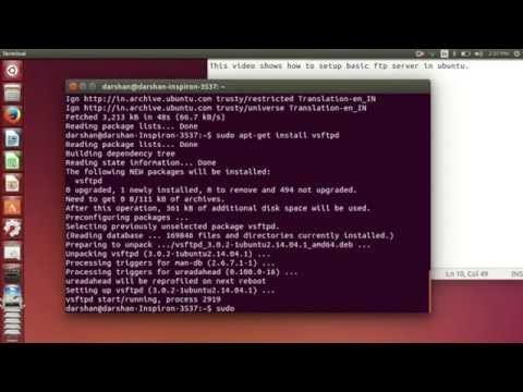 Install FTP server in Ubuntu