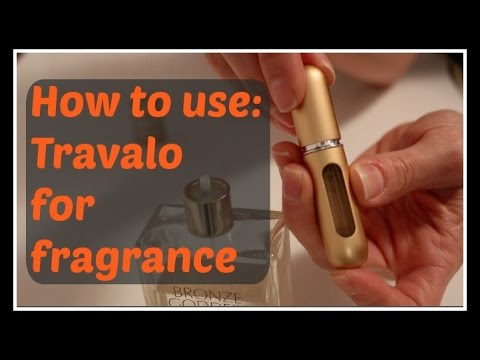 How to:  Fill a Travalo travel refillable fragrance sprayer