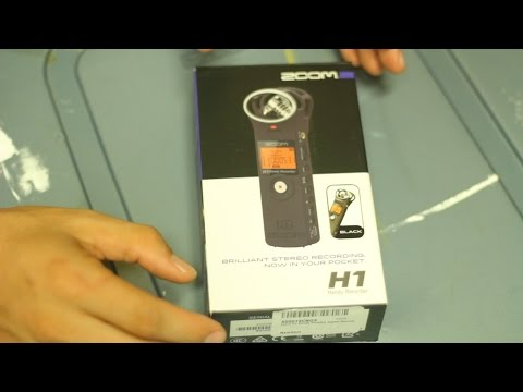 Unboxing of Zoom H1 Audio Recorder