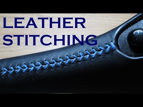 Color Stitching a Leather Shifter