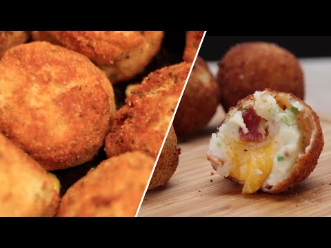 Cheese Stuffed Mashed Potato Balls- Buzzfeed Test #19
