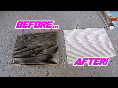2007-2012 Nissan Sentra In-Cabin Filter Replacement