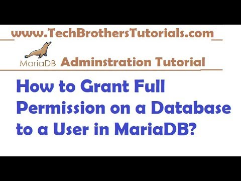How to Grant Full Permission on a Database to a User in MariaDB - MariaDB Admin Tutorial