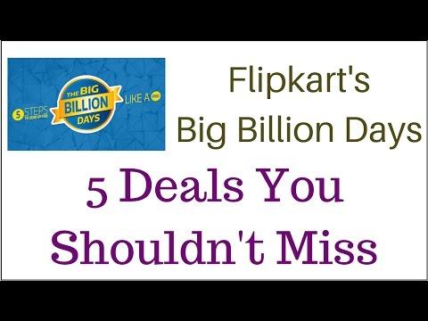 Five Deals You Shouldn't Miss on Flipkart's Big Billion Days - (Hindi)