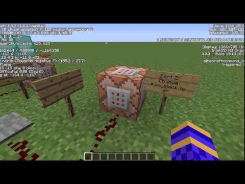 Redstone Lesson 1: Placing/Removing Blocks with Command Blocks