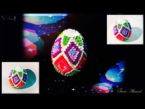 How to make 3d origami Easter egg 4