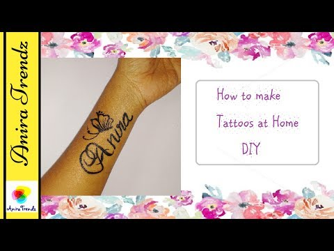 How to make Tattoo at Home Very Easily | DIY Temporary Tattoos with only 2 Products