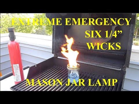 EXTREME EMERGENCY SIX BURNER MASON JAR KEROSENE TIKI TORCH CANDLE OUTDOOR USE ONLY