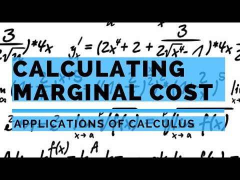 Applications of Calculus - Marginal Cost and Average Total Cost