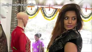 Neetu Chandra sizzling in Low Waist Black Saree and Backless Blouse.