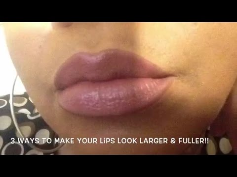 3 Ways to make your lips look larger & fuller (without surgery) | Tutorial