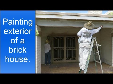 How to paint exterior brick house.