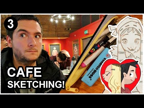 Sketching People in a Cafe !