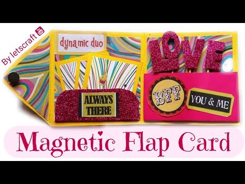 How to make  Magnetic Flap Card | DIY greeting cards for friends and Boyfriend | Easy and Quick Card