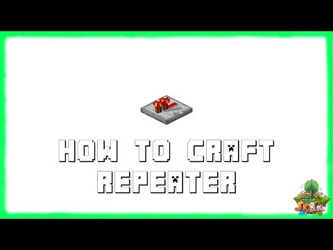 Minecraft 1.12.2: How to Make REDSTONE REPEATERS! Recipe Tutorial for Minecraft 1.12.2 | 2018