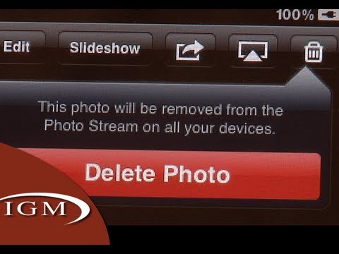 Deleting Photo Stream Pictures on iOS 5.1