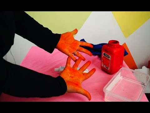 Getting FOOD COLOURING off your HANDS! | Fatema's Art Show