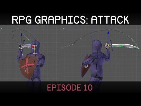RPG graphics E10: Attack Animations [Blender]