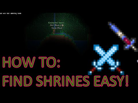 Terraria: How To Easily Find Enchanted Sword Shrines for Arkhalis/Enchanted Sword - Best ways?[2016]