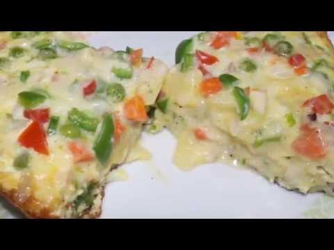 Delicious Egg Pizza Without Oven Recipe - Cheesy Egg Pizza