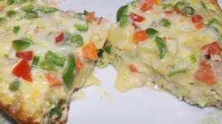 Delicious Egg Pizza Without Oven Recipe Cheesy Egg Pizza