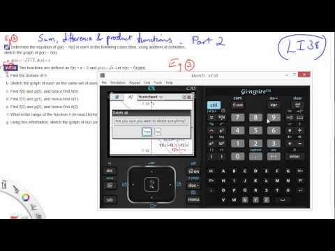 38 Sum, difference and product functions part 2
