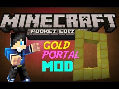 Gold Portal MOD-Minecraft Pocket Edition 0.8.1