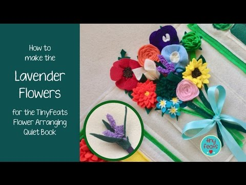 How to make a Lavender Felt Flower Tutorial Video and ePattern