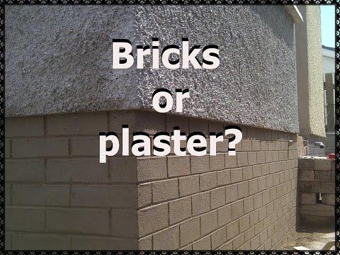 Bricks or plaster? How I make bricks from plaster