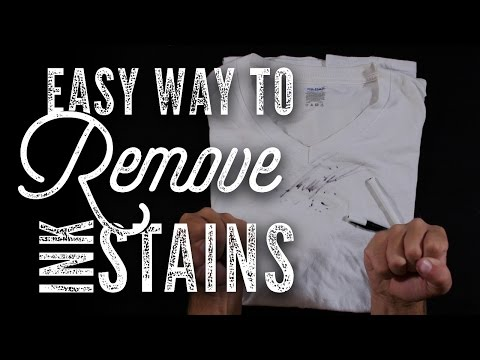How To Remove Any Ink Stain From Clothes - DIY HACK!