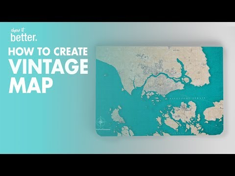Old Style Map Tutorial in Photoshop