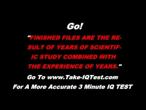 10 Second Fast IQ Quiz