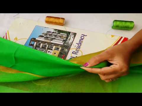 How to Stitch Saree Fall by Hand with silk thread  for silk and pattu sarees