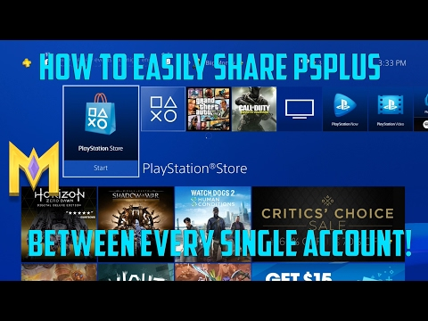 Quick Tip: Sharing Playstation Plus on PS4 with Multiple Users