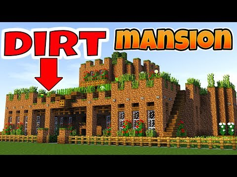 Minecraft: How to Make a SURVIVAL BASE!! Dirt Mansion Tutorial (2018)