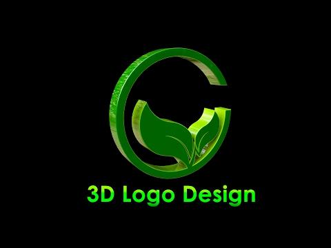 3D Logo Design   Illustrator / Cinema 4d C4d Tutorial   Green World ( by sahak )