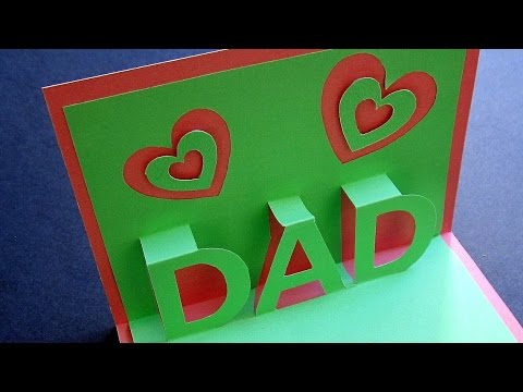 Father's day pop up card - learn how to make a popup card for dad - EzyCraft