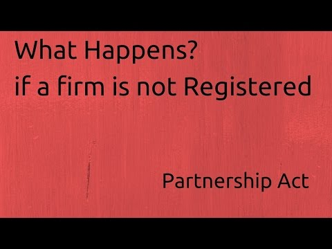 What Happens if a firm is not Registered | Indian Partnership Act 1932 | CA CPT | CS & CMA