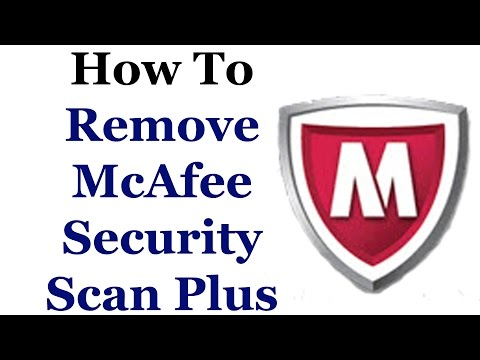 How To Remove McAfee Security Scan Plus From Windows 7 & 8