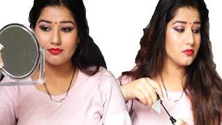घर पर मेकअप कैसे करे सीखिए स्टेप बाय स्टेप   makeup for festivals