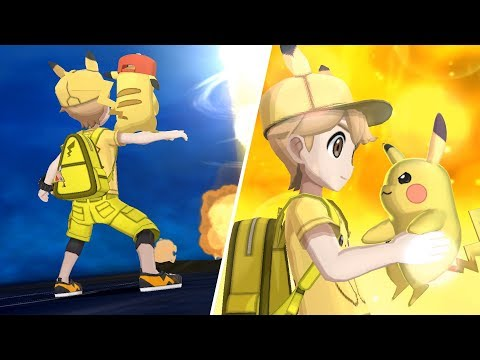 Pikachu Outfit Showcase with Exclusive Z-Moves - Pokémon Ultra Sun/Moon [1080p HD]