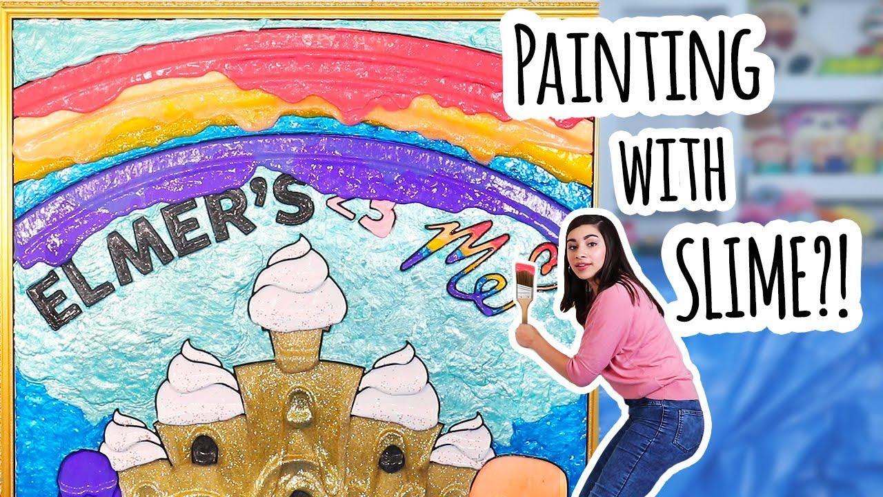 I Made A HUGE Slime Art Masterpiece - #ElmersWhatIf Slime Challenge