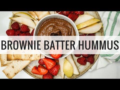 Healthy Brownie Batter Hummus