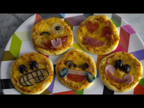 Mini Emoji Pizzas