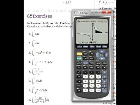 Use TI-83 plus calculator to do definite integrals