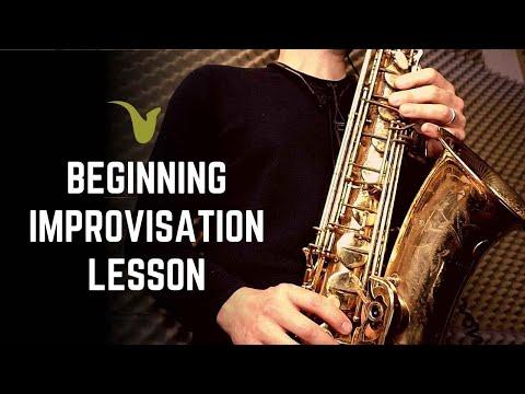 Beginner Improvisation Lesson for Saxophone (or any instrument)
