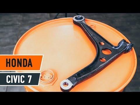How to replace front suspension arm Honda Civic 7 TUTORIAL | AUTODOC